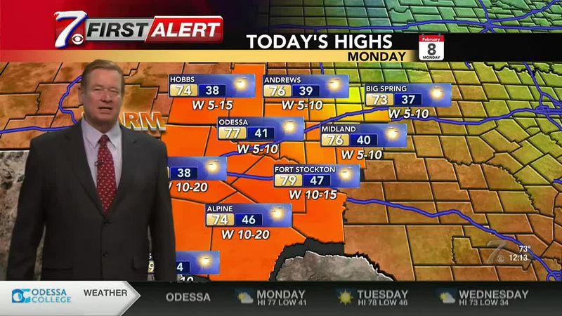 West Texas Weather Forecast 2/8