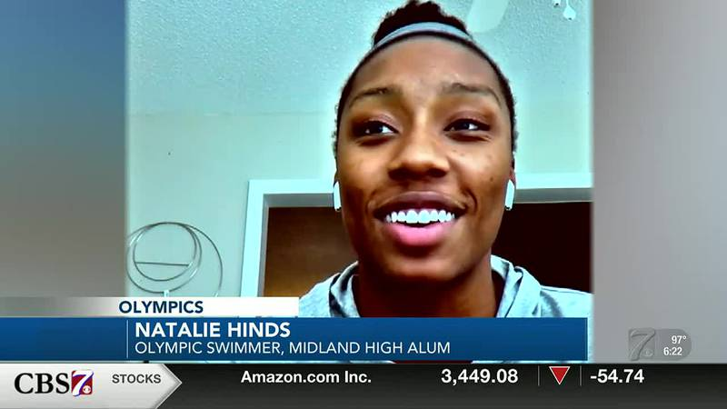 West Texas Olympian Natalie Hinds reacts to making Team USA