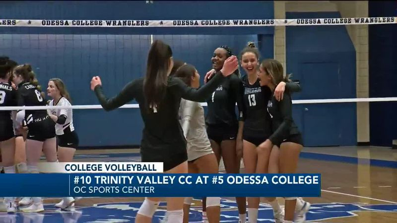 #5 Odessa College volleyball sweeps #10 Trinity Valley CC