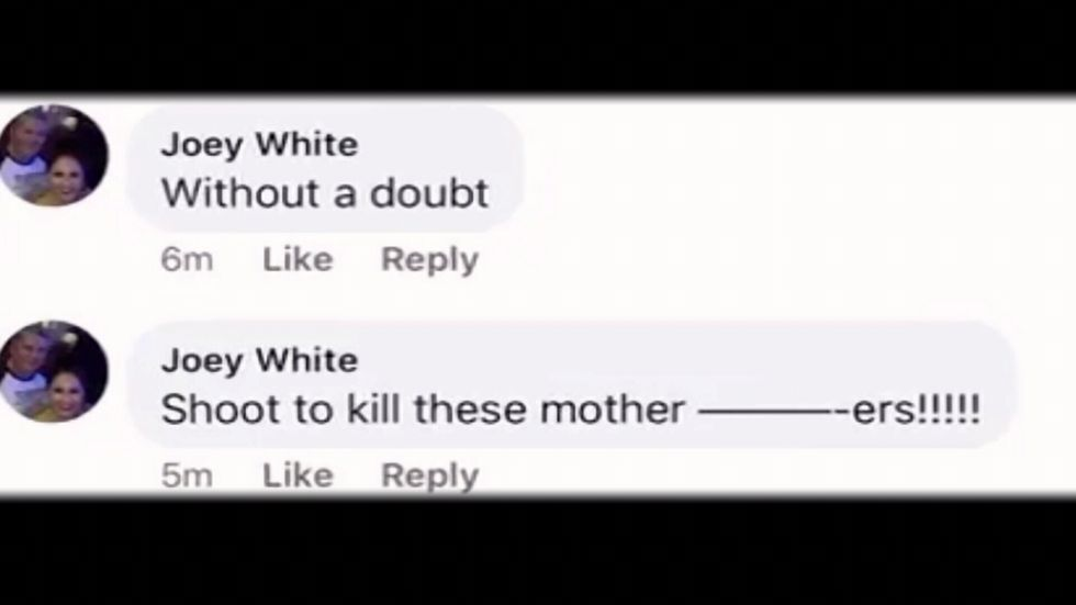 Screenshot of OFR employee's social media comment
