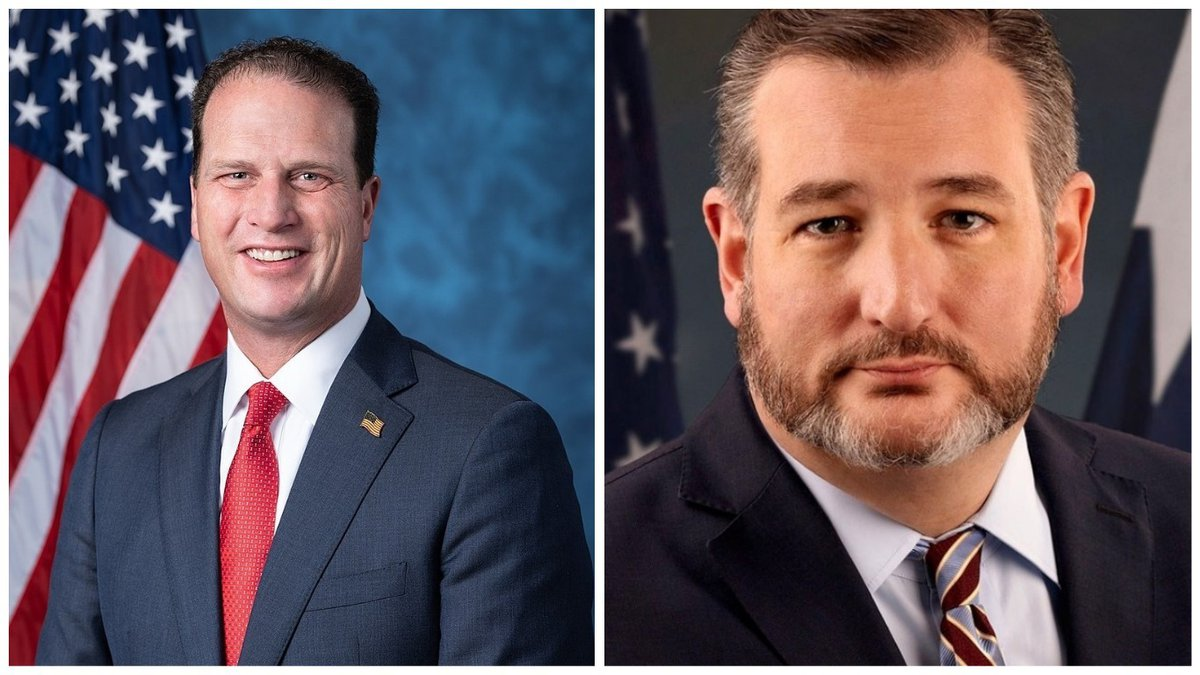U.S. Representative August Pfluger and Senator Ted Cruz.