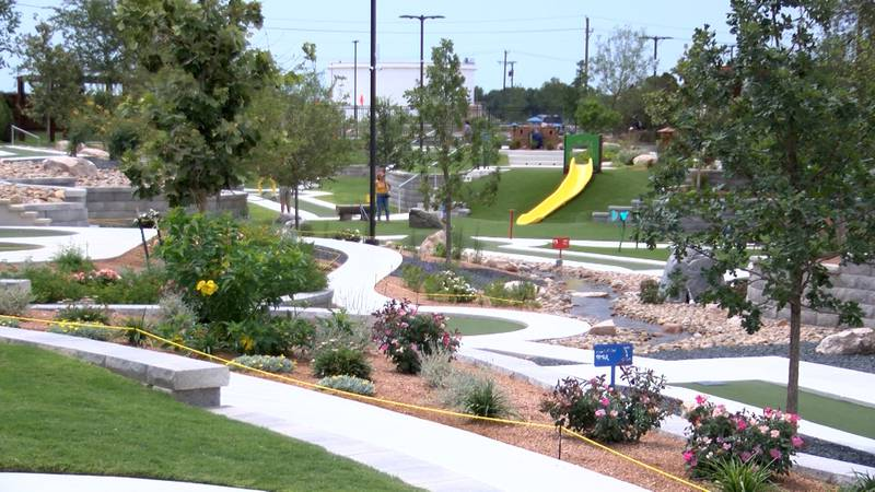 The newly-renovated Green Acres Mini Golf Course in Midland.
