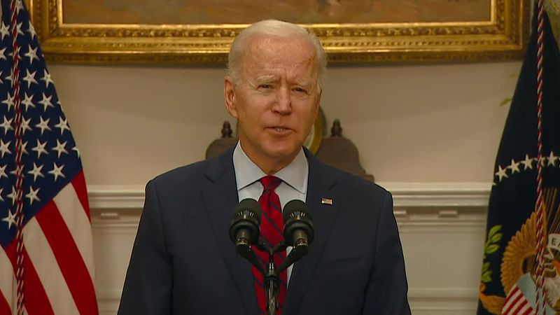 Biden says 'no time to waste' for Senate to pass his Covid relief package. (Source: CNN...