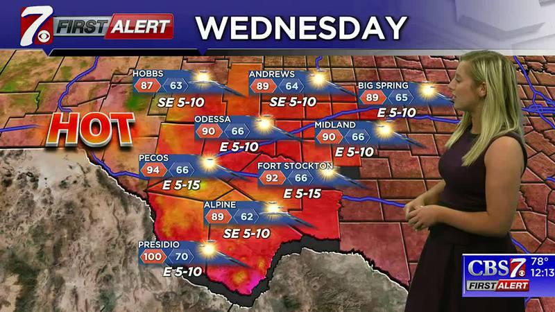West Texas Weather Forecast 9/15