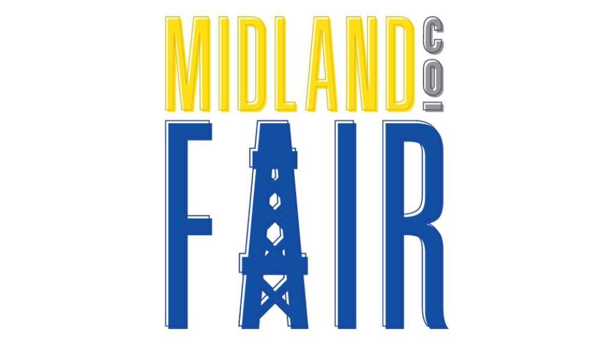 Midland County Fair logo.
