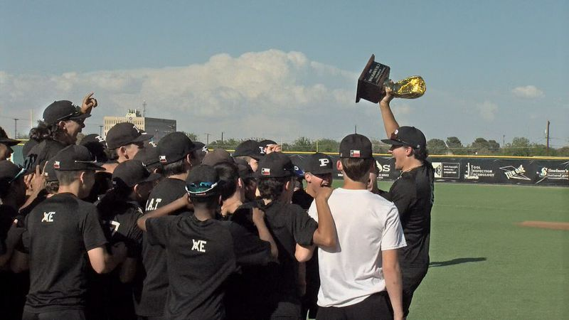 Permian baseball receives district championship trophy