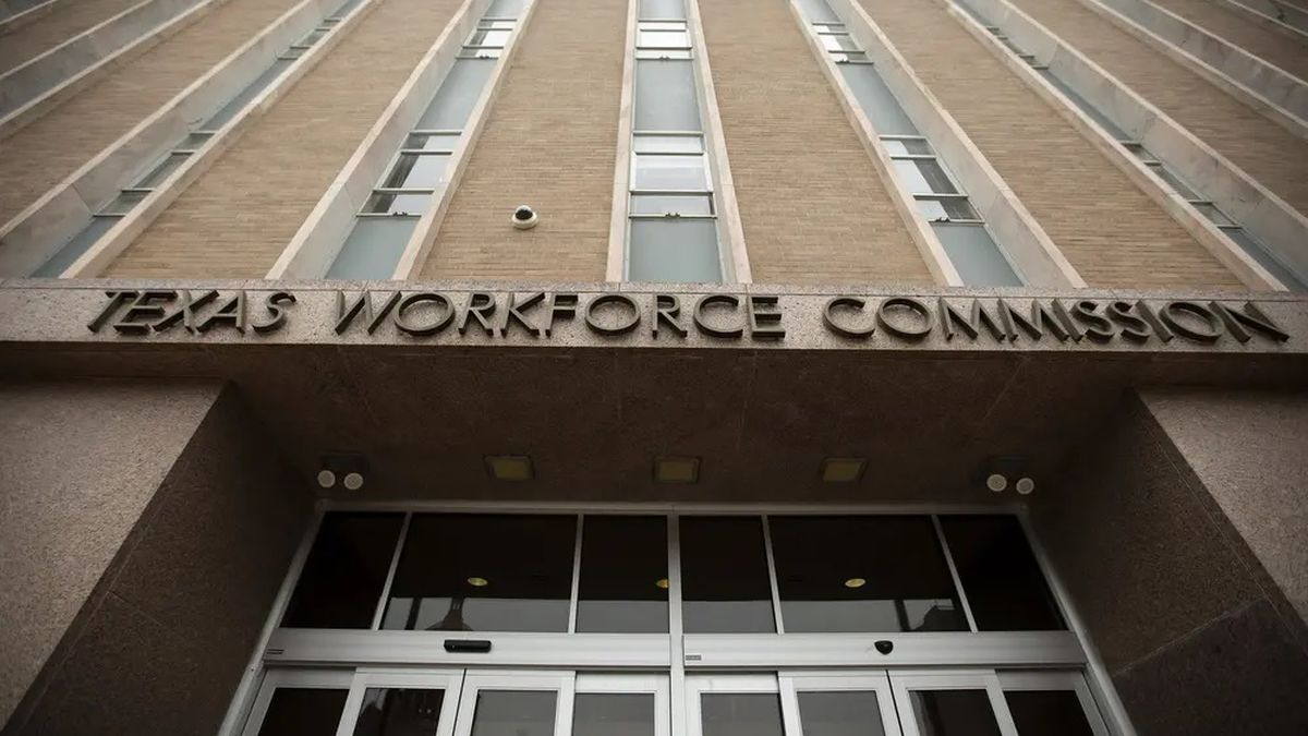 The Texas Workforce Commission building in Austin.