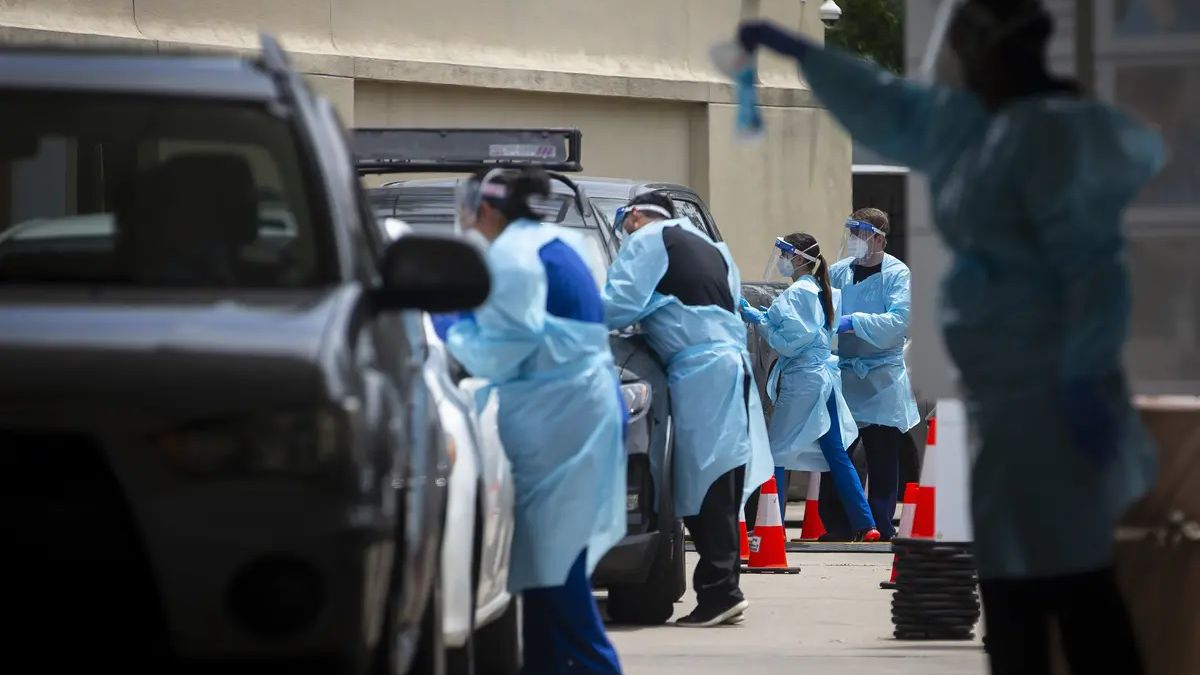 A COVID-19 testing site in Houston on June 27. Under the state's vaccine distribution plan,...