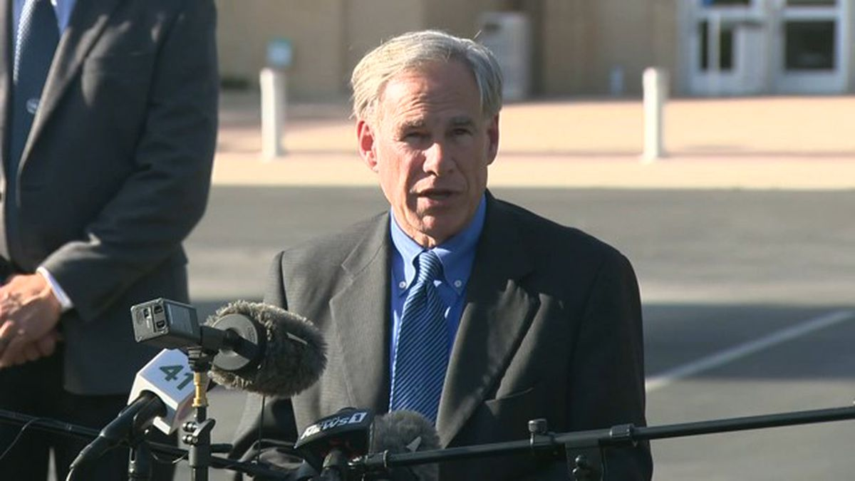 Governor Greg Abbott speaks at a press conference in San Antonio discussing an investigation...