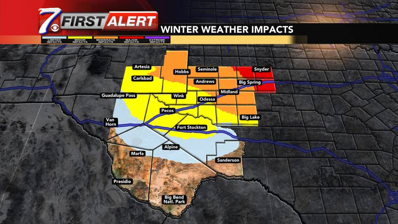 Winter weather has arrived in West Texas.