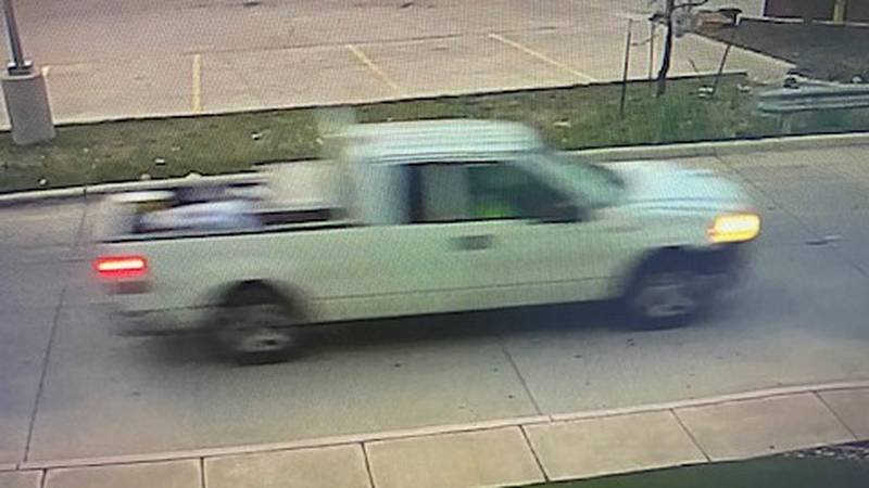 Police say this truck was involved in a hit-and-run accident in Midland on Wednesday.