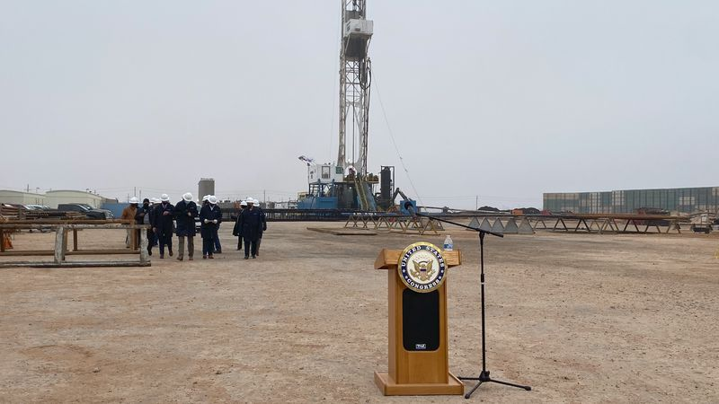 After touring a Diamondback Energy oil rig, congressman August Pfluger took shots at the Biden...