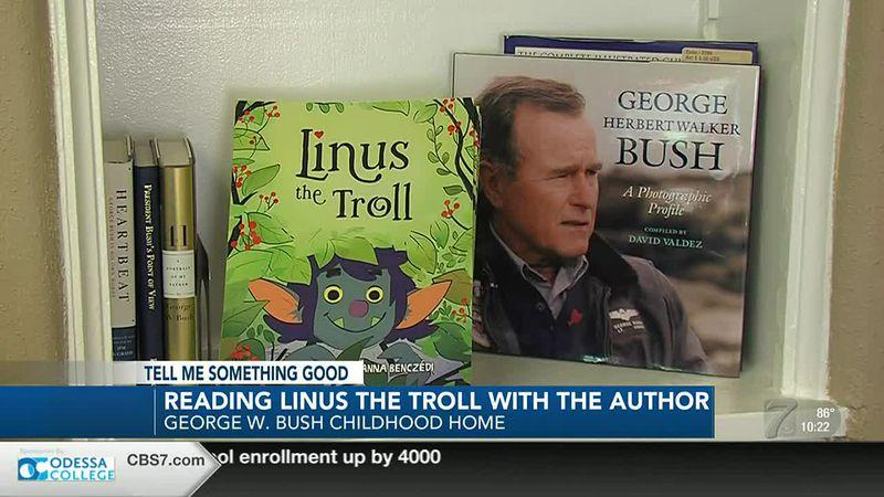 George W. Bush Childhood Home hosts Linus the Troll author