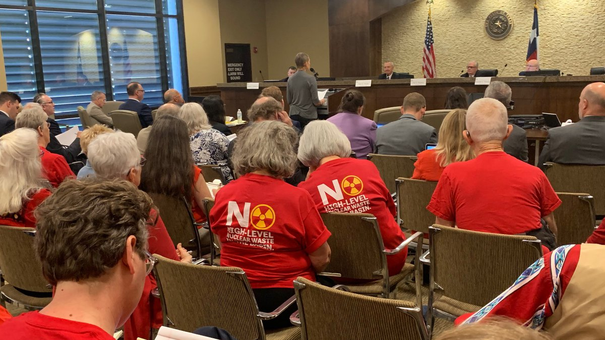 Nuclear Regulatory Commission hears arguments on possible Andrews facility.