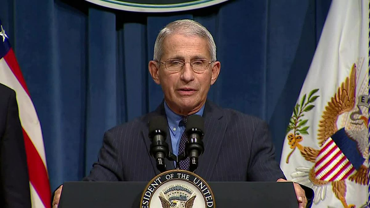 Dr. Anthony Fauci spoke about the recent spike in COVID-19 cases in the U.S., which have reached all-time daily highs.