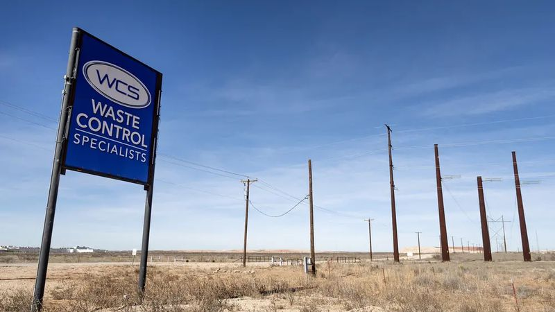 The Waste Control Specialists hazardous waste facility in Andrews County near the Texas-New...