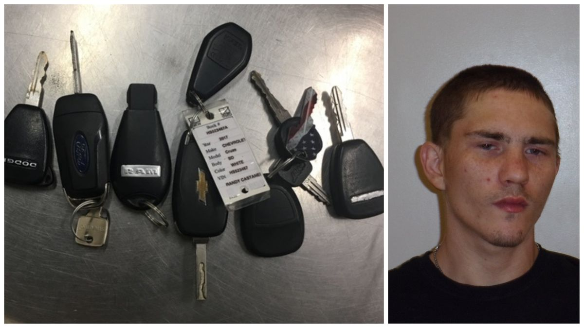 Big Spring police found several key fobs following the arrest of Christian Torrence (Right) and two other suspects earlier this month. They are looking to return the fobs to their rightful owners. (Photos: Big Spring Police Department)