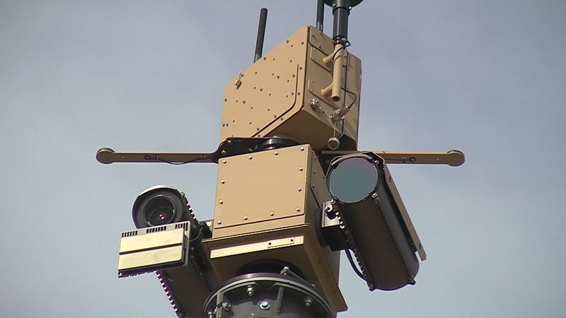 One of the new surveillance cameras in Presidio.