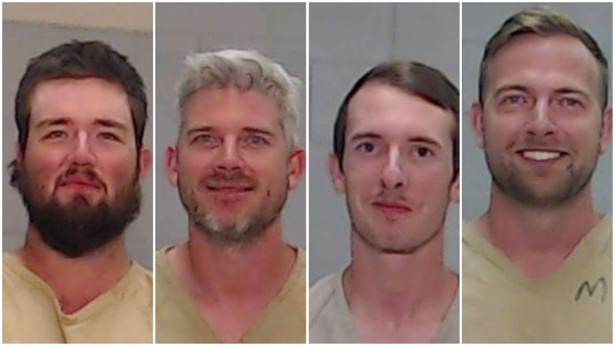 Wyatt Winn, 23, Jesse Semrad, 36, Carlo O'Brien, 20, and Joshua Watt, 31. (Mugshots courtesy of the Ector County Sheriff's Office)