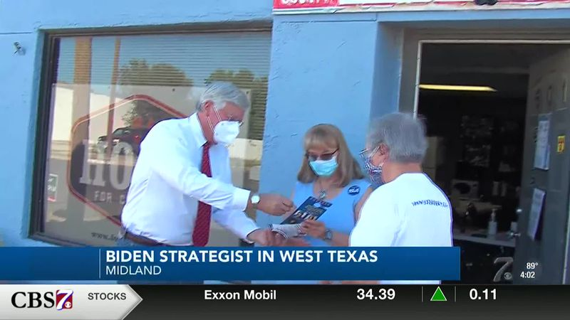 A top Biden strategist and surrogate in Texas visited the Permian Basin on Wednesday.