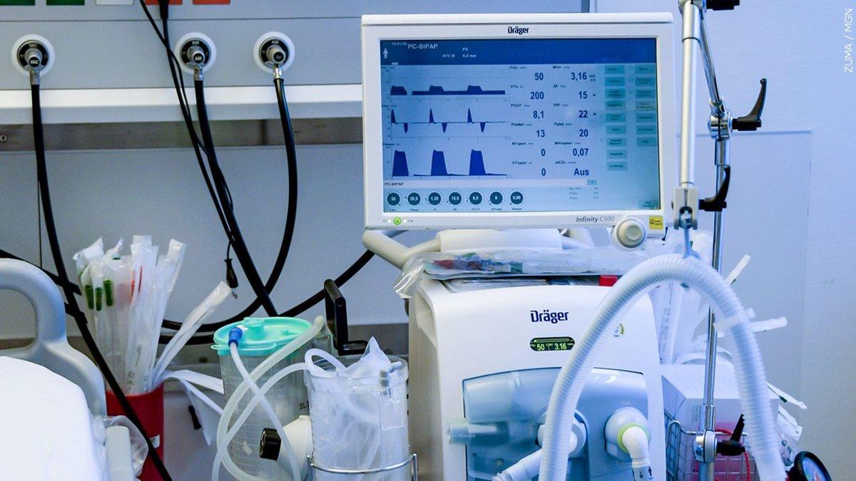 A hospital ventilator.